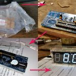 Собираем DIY набор китайских электронных часов с термометром и датчиком освещенности