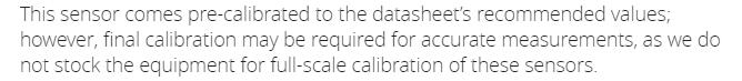 Заявление о невозможности нормальной калибровки датчиков
