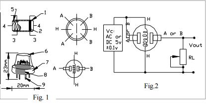 Схема электрохимического датчика