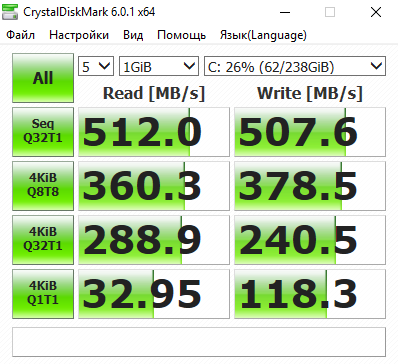 CrystalDiskMark, ocz, vertex 4, 240 gb