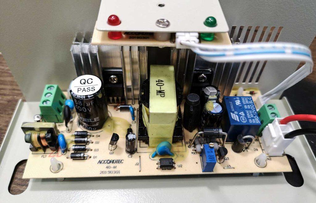 Accrodtec, аккордтек, плата, 40-м, 20190301, sdr-12VDC-SL-C, 400v, QC PASS