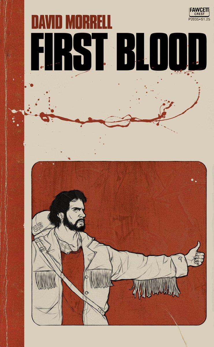 book cover, first blood, morrell, обложка книги, первая кровь, моррелл