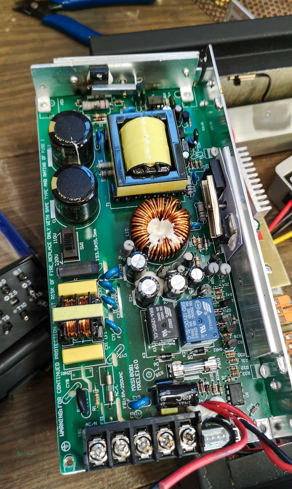 chux, ups, конденсаторы, катушка, радиаторы