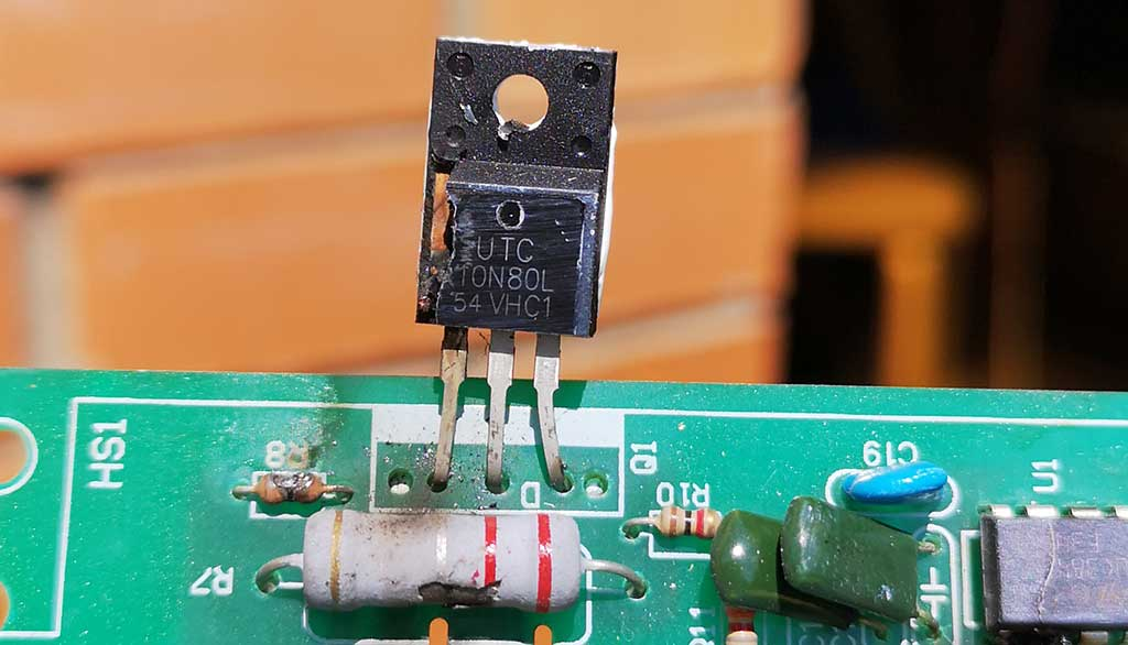 транзистор, резистор, сгорели
