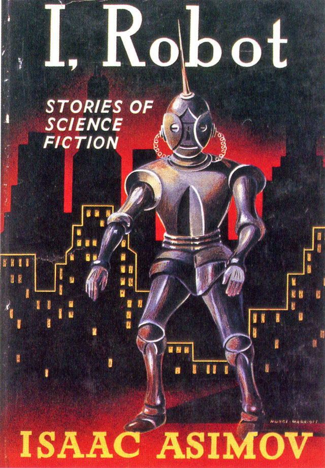 I, Robot, stories of science finction, robot, cityline, wires