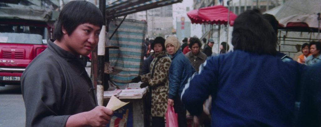 Улица, китаец, листко бумаги, карта, люди