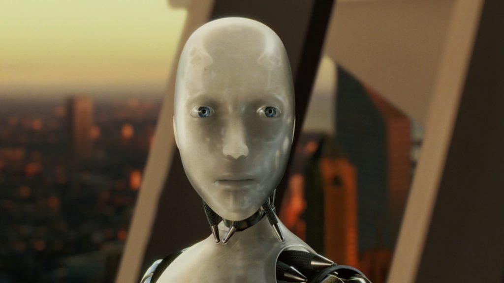Робот, город, лицо, мышцы, галаза, i, robot