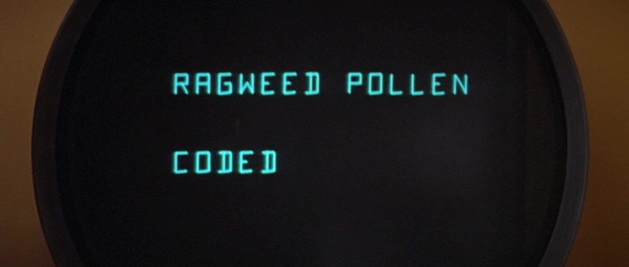Древний экран компьютера, ragweed pollen coded, andromeda, strain