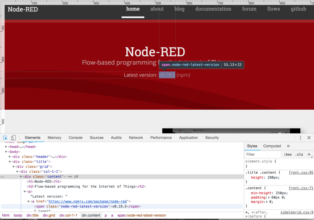 node-red editing site