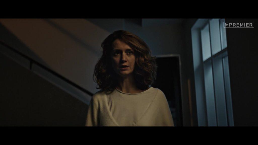 женщина, лестница, ночь, окно