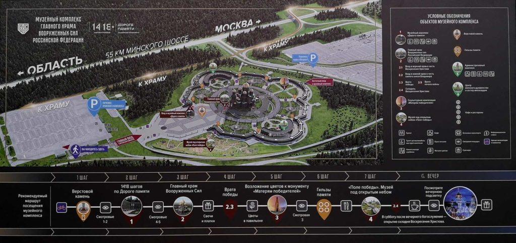 схема главного храма РФ в патриоте