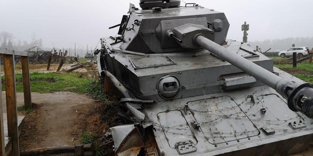 танк, немецкий, подбито