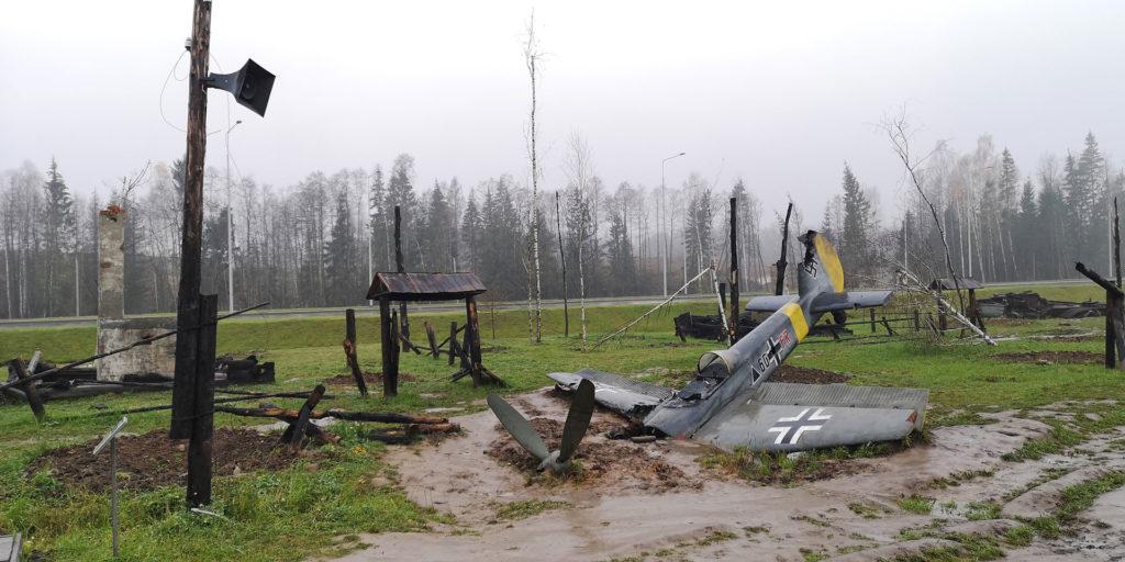 разбитый самолет, немцы, война