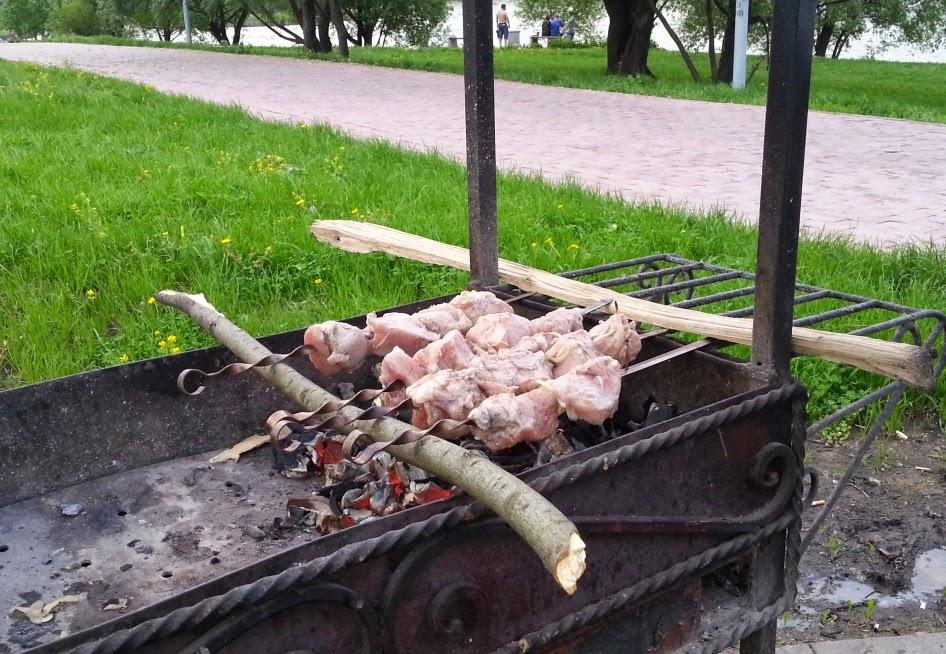 Шашлык, свинина, мангал