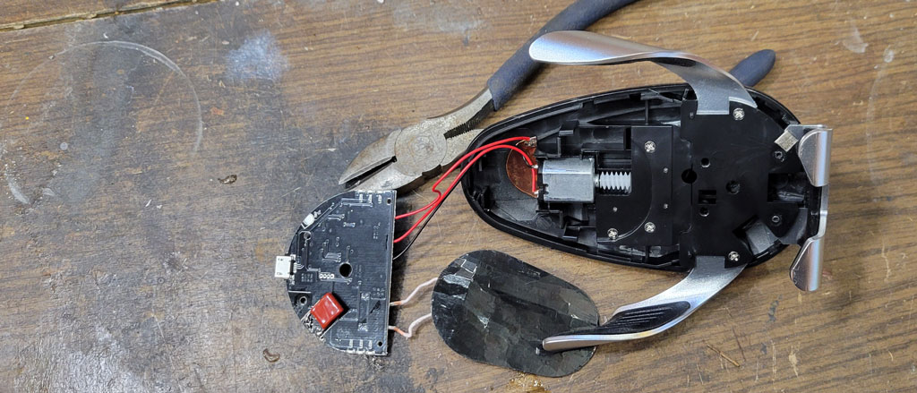 беспроводная зарядка, оборотная сторона, конденсатор