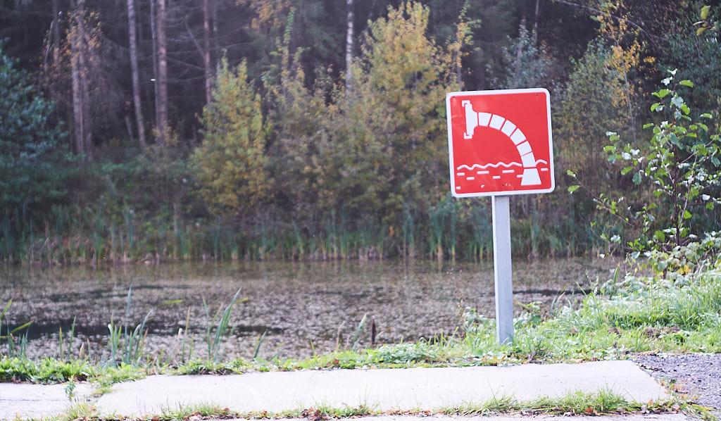 знак пожарного пруда